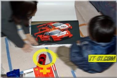 スーパーGTのカレンダーとミニッツのENZO(京商ミニッツレーサーMR-02MM)
