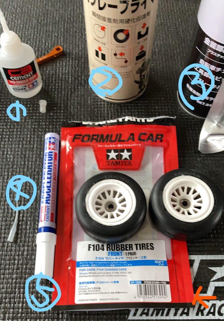 「写真」タイヤの作る時の便利アイテム。